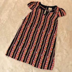 NWOT ModCloth Cap Sleeved Print Shift Dress Large